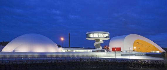 Espectacular vista del Centro Cultural Internacional Oscar Niemeyer