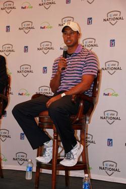 Tiger, en la rueda de prensa