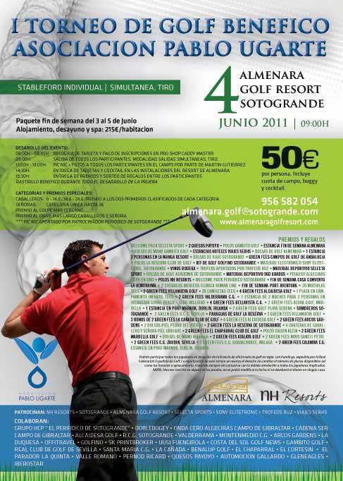 Cartel del torneo de golf de la Asociación Pablo Ugarte