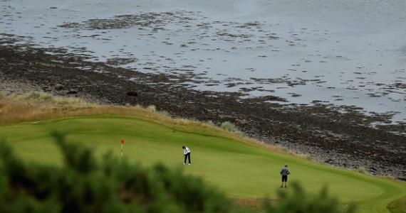 Idílico emplazamiento el del Championship Course del Castle Stuart Golf Links