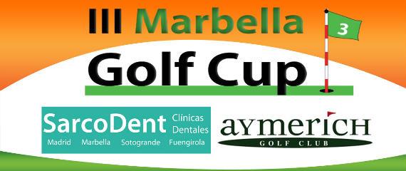 Cabecera de la III Marbella Golf Cup