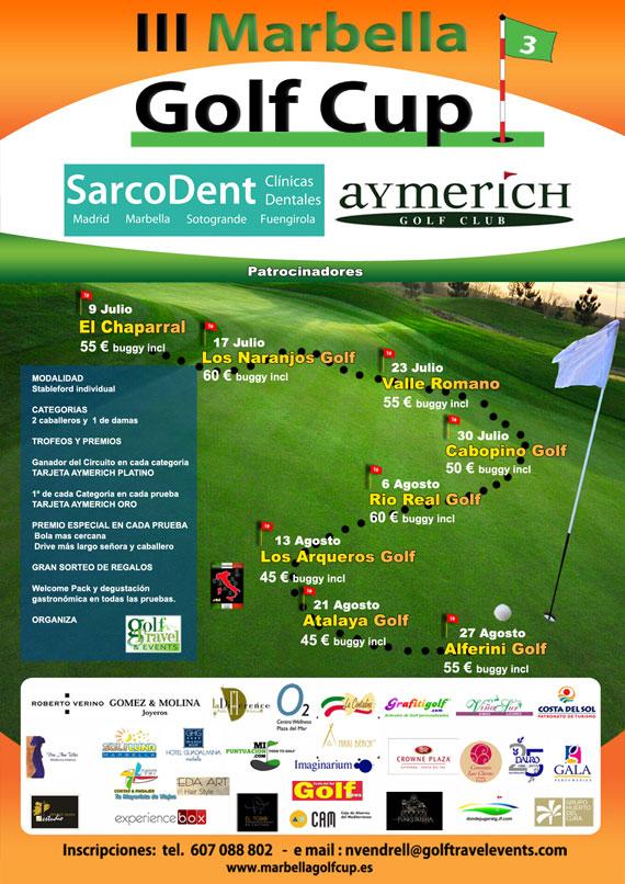 Cartel de la Marbella Golf Cup