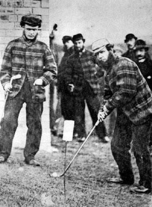 Tom Morris en el primer Open