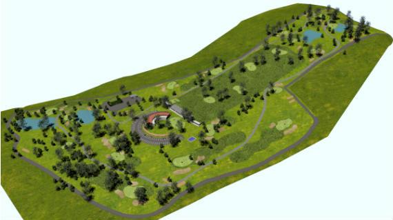 Infografía del recorrido del campo de golf Pazo de Rubianes