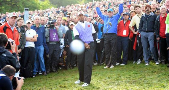 Cigar Guy y Tiger Woods en la Ryder