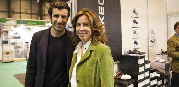 Luis Figo y Rocío Aguirre en madridGOLF 2011