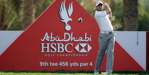 Sergio García, en el ProAm del Abu Dhabi HSBC Golf Championship 2012