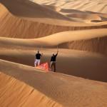 Kaymer y Donald, en su reto desértico en la previa del Abu Dhabi HSBC Golf Championship