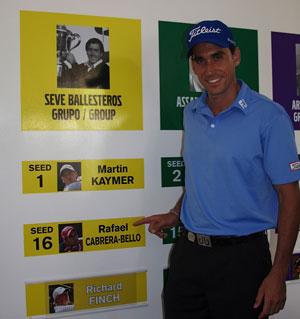 Cabrera, en el grupo Seve Ballesteros (foto de Alfredo Calle)