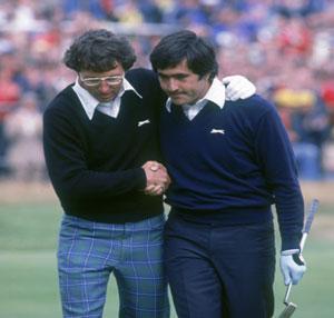 Irwin felicita a Ballesteros en 1979