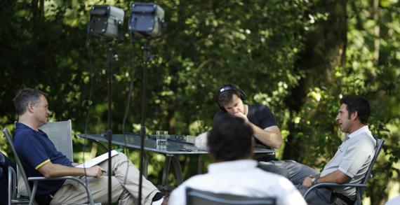 El capitán europeo, junto a Richard Gillis durante la entrevista (foto © Ernst & Young / Matthew Harris / TGPL)