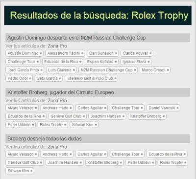 Búsqueda de Rolex Trophy