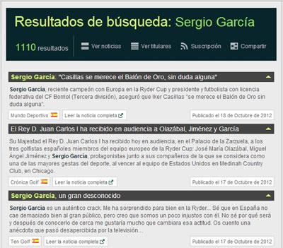 Búsqueda de Sergio García