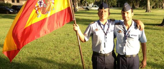 Manu y Paco, militares del Ejército del Aire