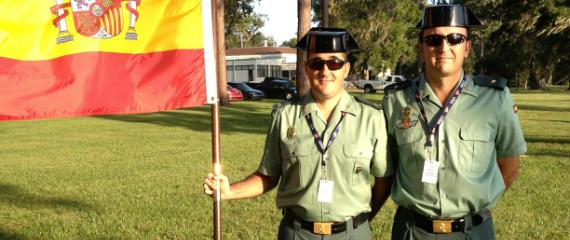 Benito y Miguel Ángel, miembros de la Guardia Civil
