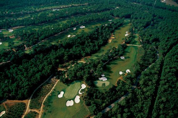 Vista aérea del Real Club de Golf El Prat