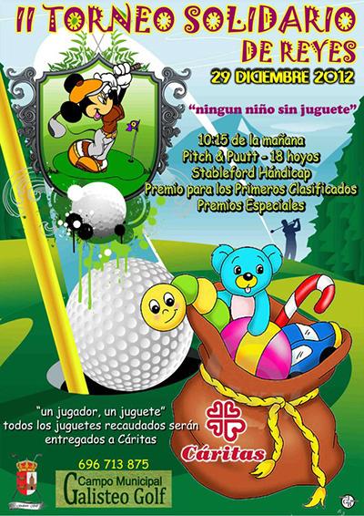 Cartel de II Torneo Solidario de Reyes en Galisteo Golf