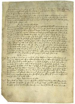 Acta del Parlamento del 6 de marzo de 1457