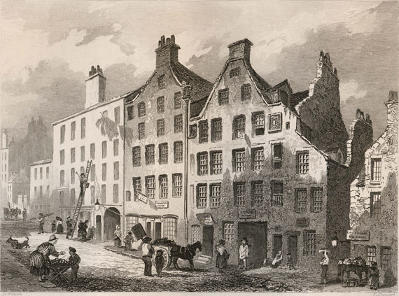 Grabado de 1848 de Golfer's Land
