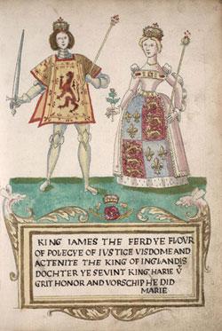 El rey Jacobo IV de Escocia