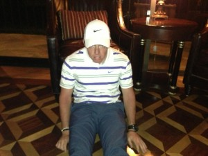 "Rory McIlroy haciendo ""Dufnering"""