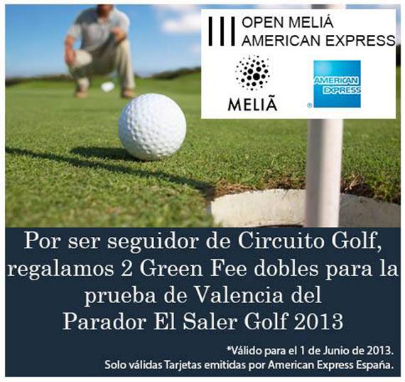 Oferta de Circuito Golf para jugar el Open Melía American Express en El Saler