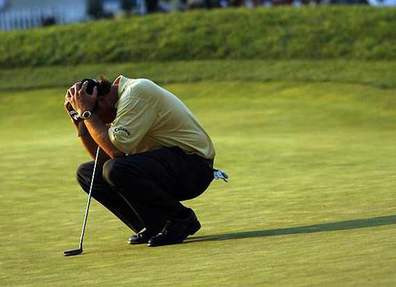 Phil Mickelson, segundo clasificado en el U.S. Open de 2006, en Winged Foot