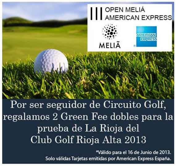 Oferta de American Express para jugar en Rioja Alta