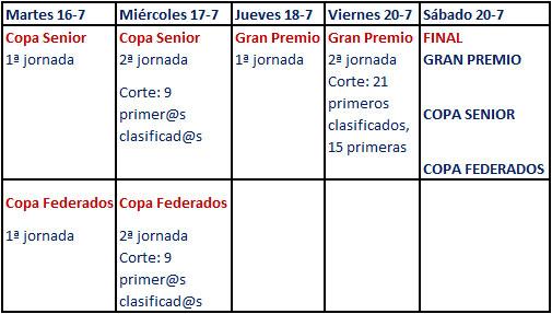 Calendario del Gran Premio de la Comunidad de Madrid