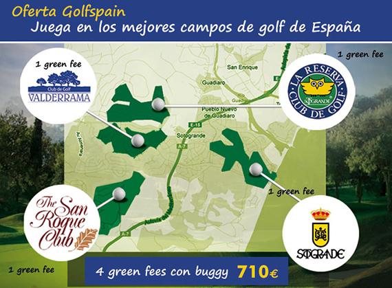 Oferta de Golfspain para jugar Valderrama, San Roque, La Reserva y Sotogrande