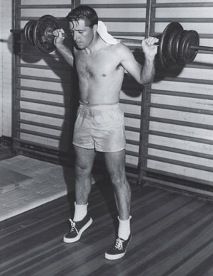 Gary Player, haciendo pesas cuando era joven