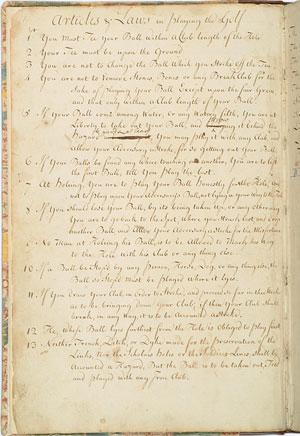 Manuscrito de las 13 reglas de Leith