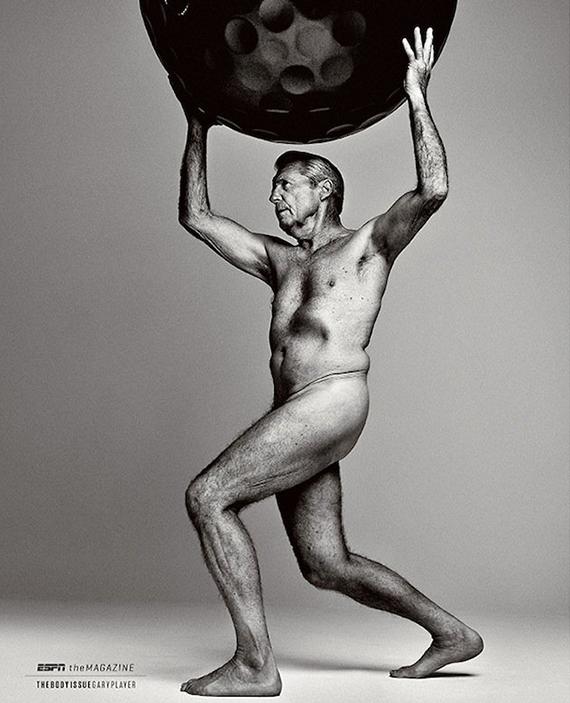 Gary Player posando desnudo en The Body Issue