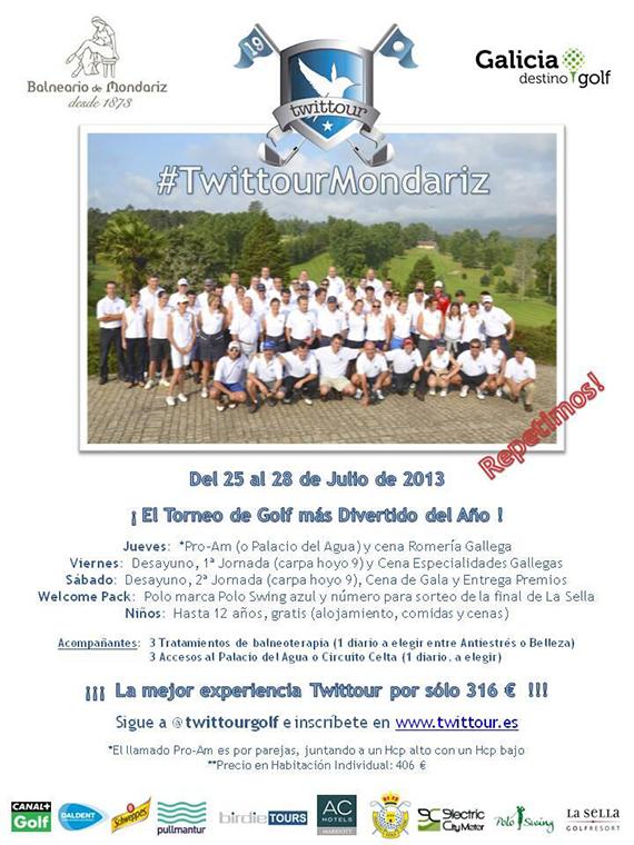 Cartel del Twittour Mondariz