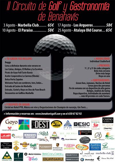 Cartel del II Circuito de Golf y Gastronomía de Benahavís