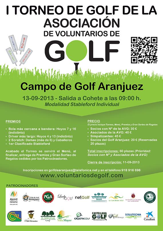 Cartel del primer torneo de la Asociación de Voluntarios de Golf