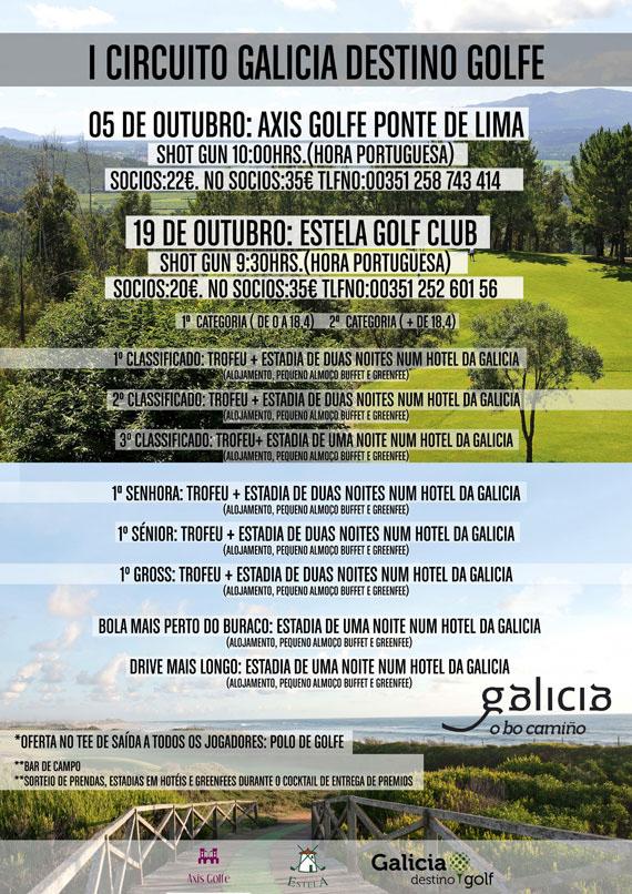 Cartel del Circuito Galicia Destino Golf