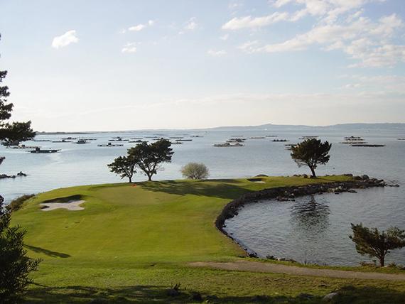 Punta Cabreira, hoyo 5 del Club de Golf La Toja