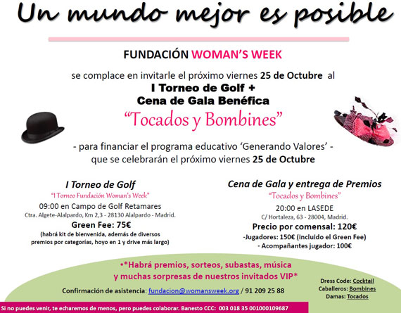 I Torneo de Golf de la Fundación Woman's Week