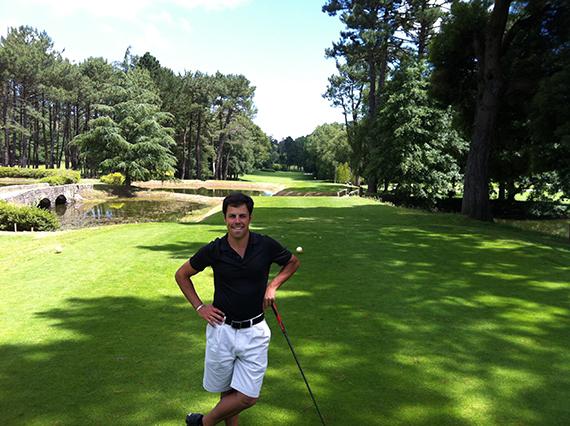 Enrique Soto, en el hoyo 9 del Real Club de Golf de La Coruña