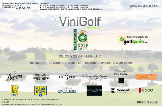 Cartel del Torneo Vinigolf Montecastillo Golfspain