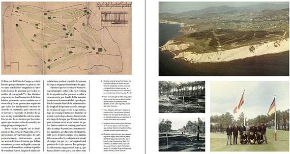 Páginas del libro dedicadas al campo de Neguri