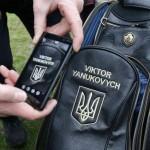 Imagen de la bolsa de palos de Víctor Yanukóvich