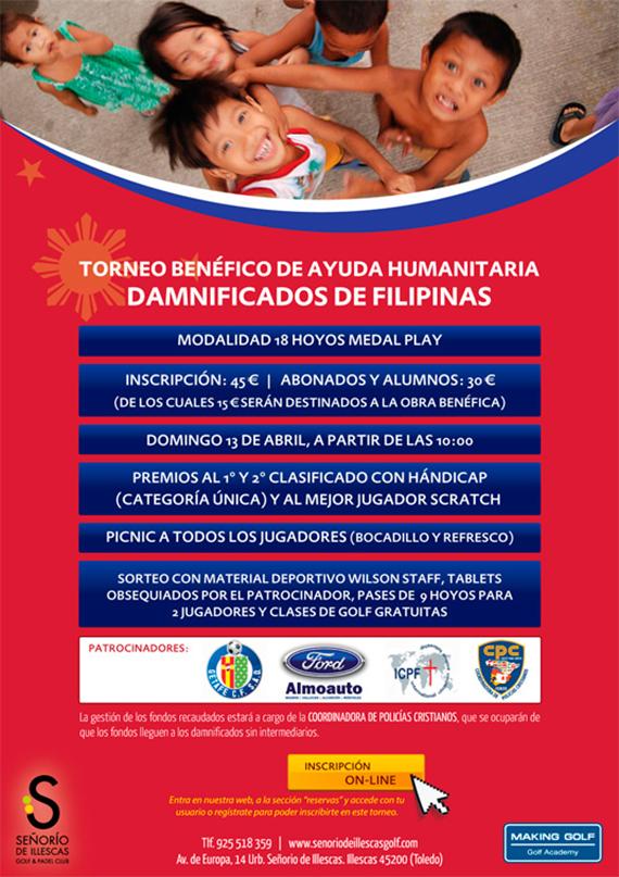 Torneo benéfico de ayuda humanitaria Damnificados de Filipinas en Señorío de Illescas