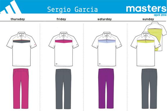 Vestimenta de Sergio García para el Masters 2014