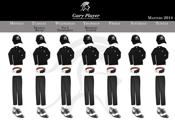 Vestimenta de Gary Player para el Masters 2014