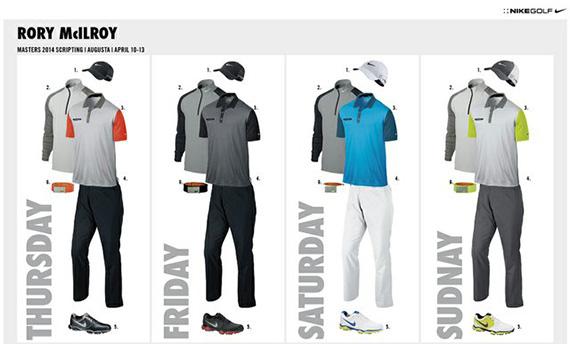Vestimenta de Rory McIlroy para el Masters 2014