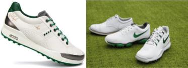 Zapatos de Nike y Ecco para el Masters