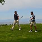 Carlos García-Hirschfeld y Javier Díez, en el torneo del vigésimo aniversario de Retamares