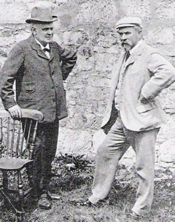 Charles Hunter (greenkeeper de Prestwick) y Jack Morris